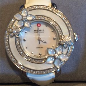 Michele Cloette Fleur Watch w/ diamonds.